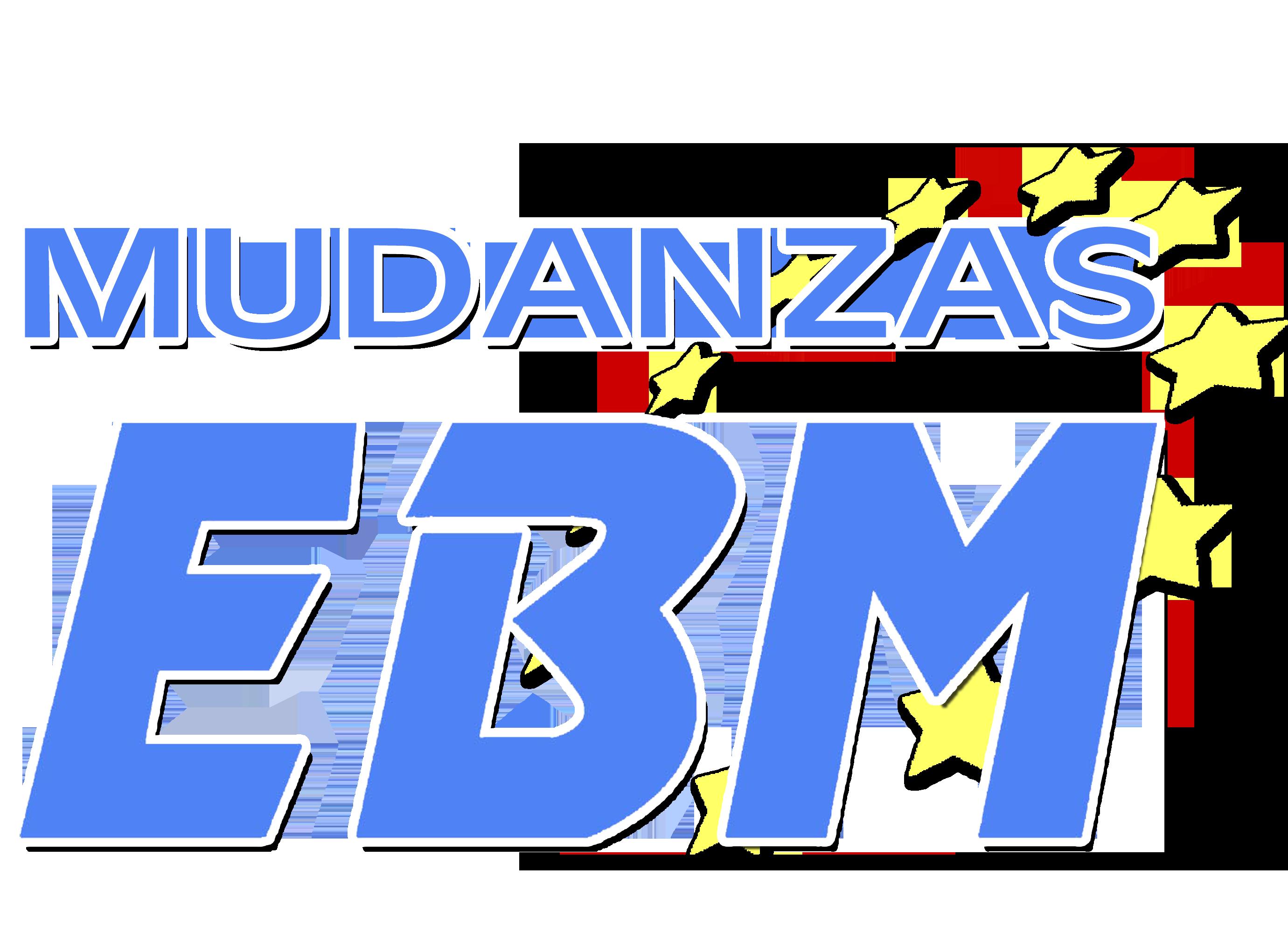 logotipo de mudanzas ebm